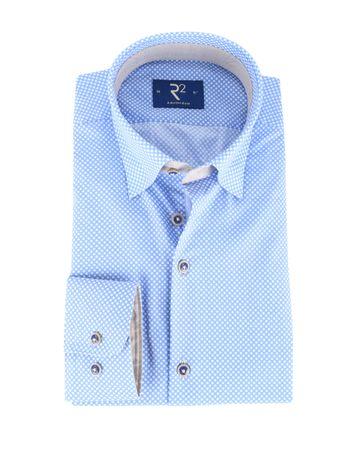 R2 Overhemd Blauw Punt