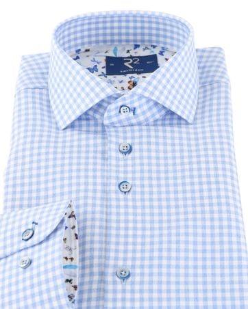 Detail R2 Overhemd Blauw Ruit