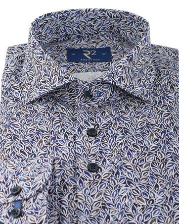 Detail R2 Overhemd Blauwe Bladeren