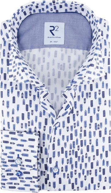 R2 Overhemd Blauwe Herenhuizen