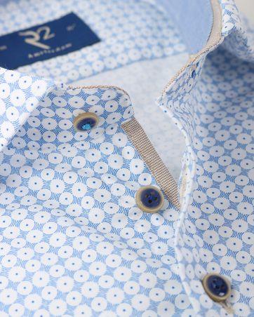 Detail R2 Overhemd Blauwe Print