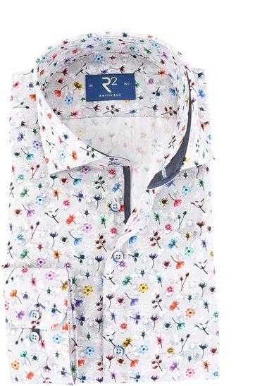 Detail R2 Overhemd Bloemetjes Print