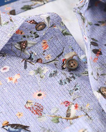 Detail R2 Overhemd Bloemetjes Print Blauw