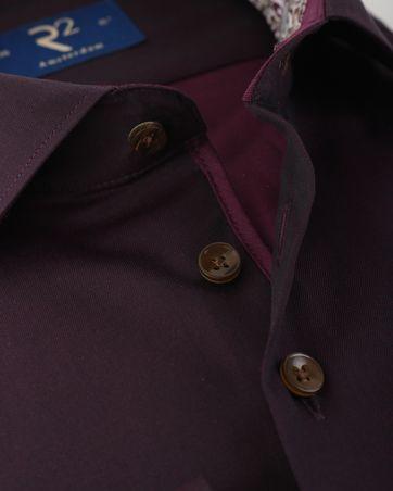 Detail R2 Overhemd Bordeaux Twill