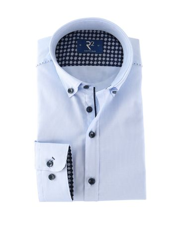 R2 Overhemd Button Down Blauw