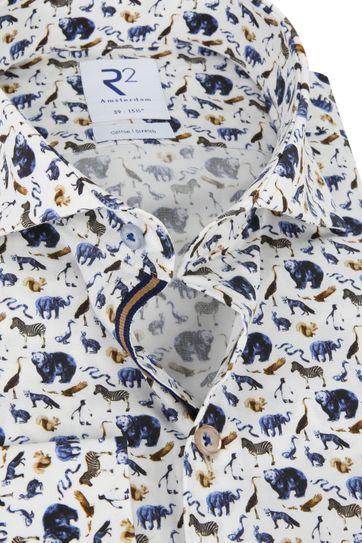R2 Overhemd Dieren Print
