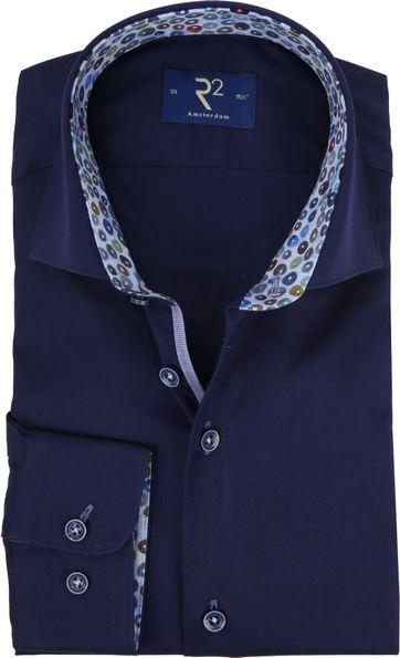 R2 Overhemd Donkerblauw Oxford
