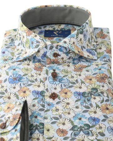 Detail R2 Overhemd Flower Power