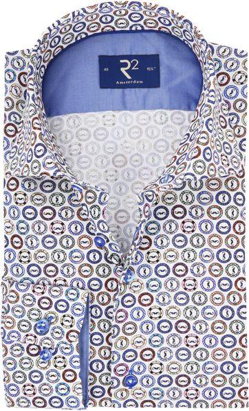 R2 Overhemd Gekleurde Snor