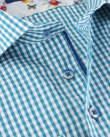 Detail R2 Overhemd Groen Ruit