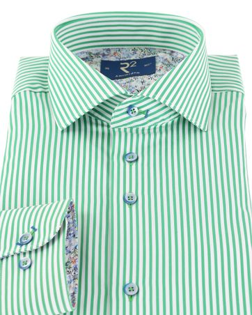 Detail R2 Overhemd Groene Streep