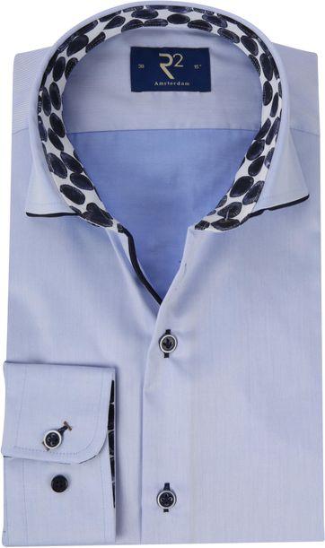 R2 Overhemd Lichtblauw Fijne Twill