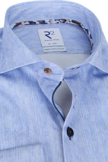 R2 Overhemd Lichtblauw Melange