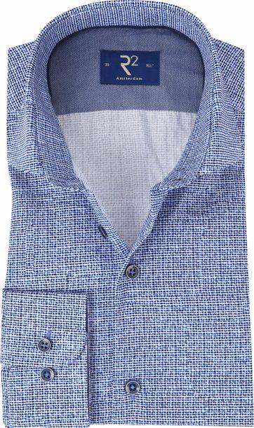 R2 Overhemd Poplin Blauw