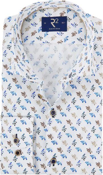 R2 Overhemd Poplin Blue