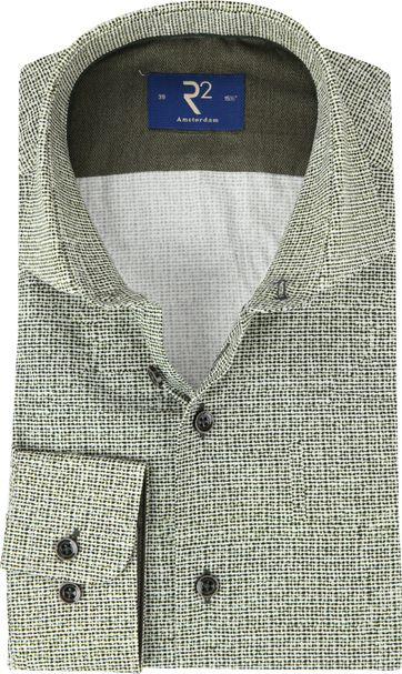 R2 Overhemd Poplin Groen
