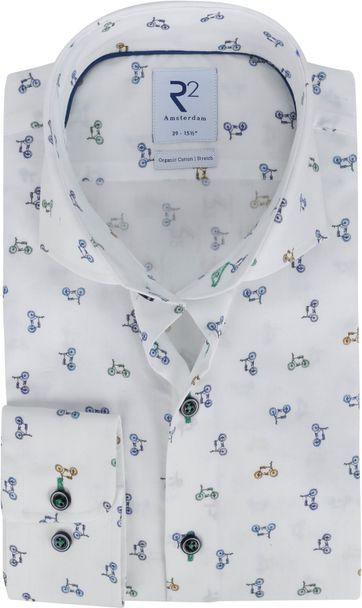 R2 Overhemd Print Fietsen