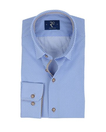 R2 Overhemd Stippen Blauw