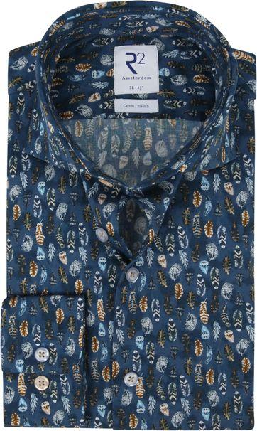 R2 Overhemd Veren Donkerblauw