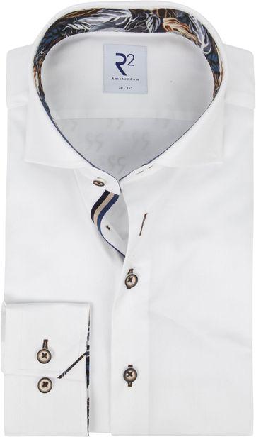 R2 Overhemd Wit Bladeren