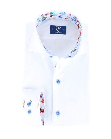 R2 Overhemd Wit + Bloemen