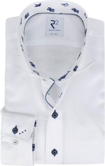 R2 Overhemd Wit Effen