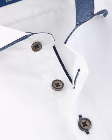 Detail R2 Overhemd Wit Twill
