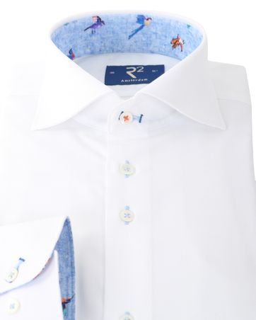 Detail R2 Overhemd Wit + Vogels
