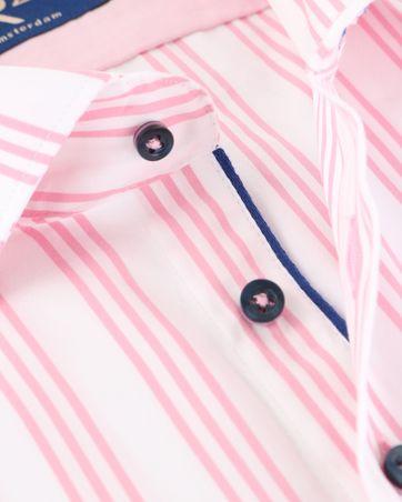 Detail R2 Overhemd Wit/Roze Strepen