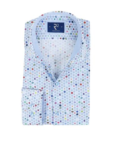 R2 Overhemd Zomers Blauw