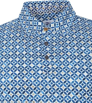 R2 Polo Multicolour Sparkle Blauw