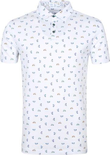 R2 Polo Shirt Bicycles White