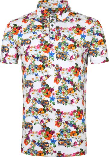 R2 Polo Shirt Flower Power Multicolour