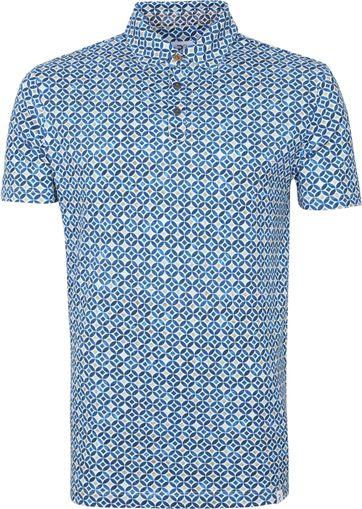 R2 Poloshirt Multicolour Sparkle Blau