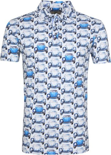 R2 Poloshirt Piquet Beetle Blau