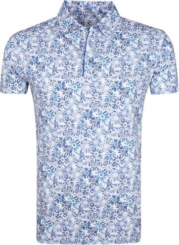 R2 Poloshirt Zonnebloemen Blauw