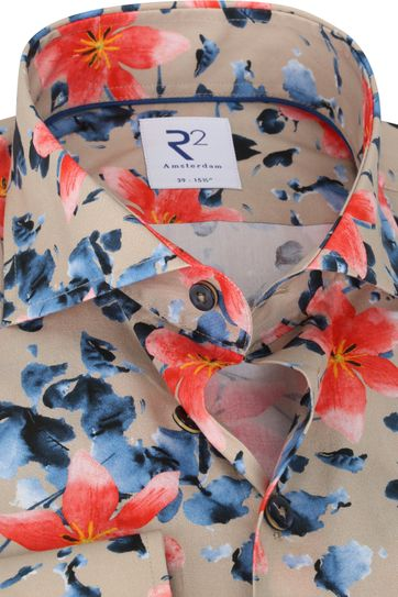 R2 Shirt Beige Flowers