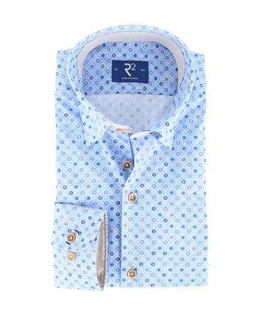 R2 Shirt Blauwe Print