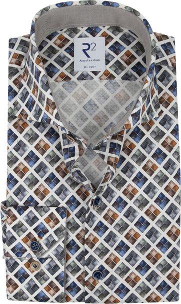 R2 Shirt Blocks Multicolour