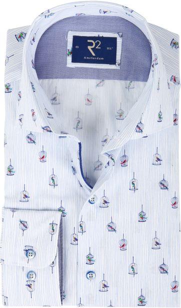 R2 Shirt Blue Birdcage