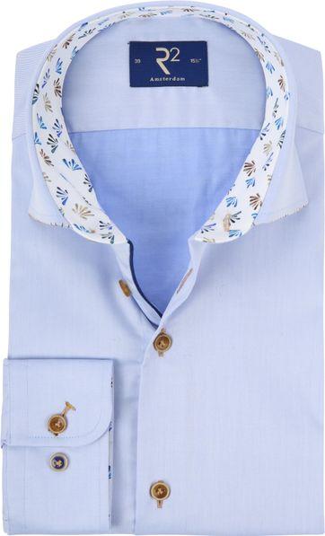 R2 Shirt Blue Fine Twill