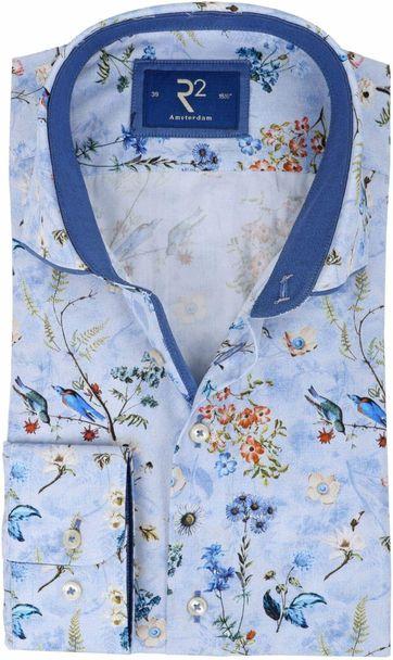 R2 Shirt Blue Flowers