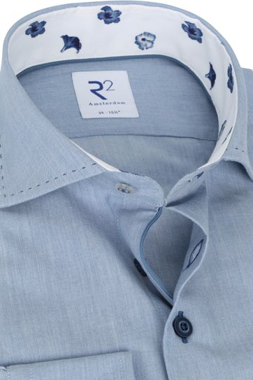 R2 Shirt Blue Plain