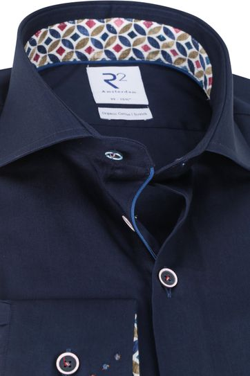 R2 Shirt Dark Blue Plain