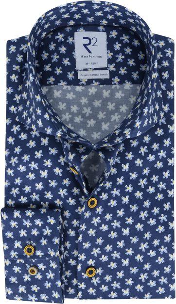 R2 Shirt Dark Blue Yellow