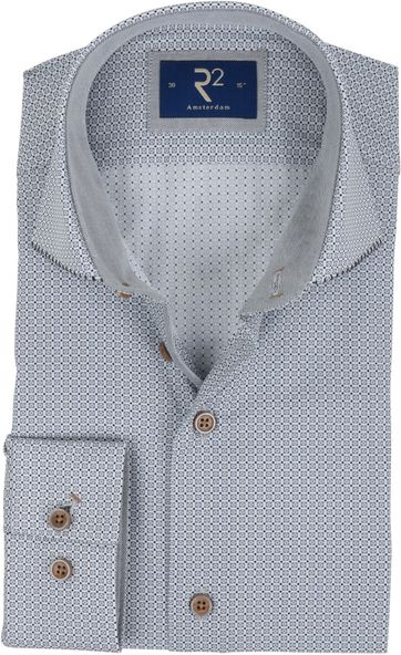 R2 Shirt Grey Pattern