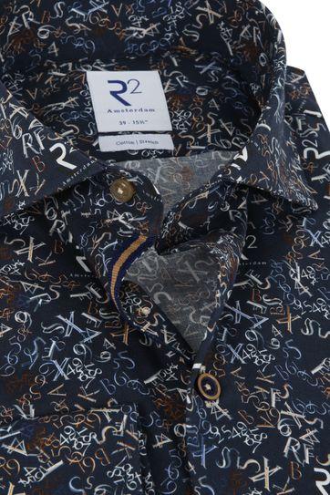 R2 Shirt Letters Dark Blue