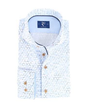 R2 Shirt Lichtblauw Print