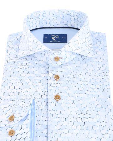 Detail R2 Shirt Lichtblauw Print