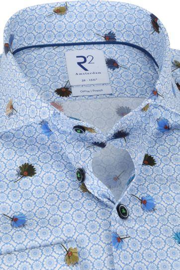 R2 Shirt Light Blue Flowers